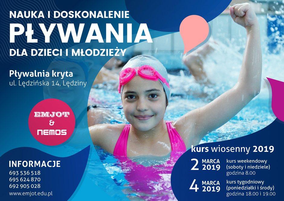 Nauka i doskonalenie pływania dla dzieci – kursy wiosenne 2019